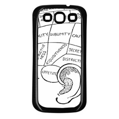 Brain Chart Diagram Face Fringe Samsung Galaxy S3 Back Case (black)