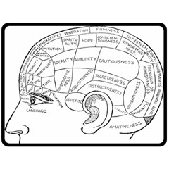 Brain Chart Diagram Face Fringe Double Sided Fleece Blanket (large)