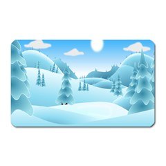 Landscape Winter Ice Cold Xmas Magnet (rectangular)