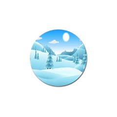 Landscape Winter Ice Cold Xmas Golf Ball Marker