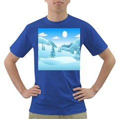 Landscape Winter Ice Cold Xmas Dark T Shirt