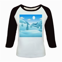 Landscape Winter Ice Cold Xmas Kids Baseball Jerseys