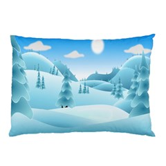 Landscape Winter Ice Cold Xmas Pillow Case by Nexatart