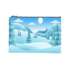 Landscape Winter Ice Cold Xmas Cosmetic Bag (large)