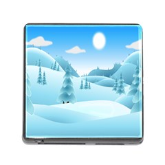 Landscape Winter Ice Cold Xmas Memory Card Reader (square) by Nexatart