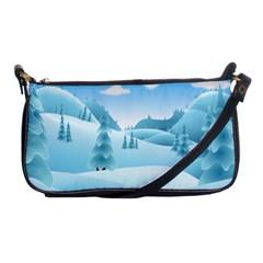 Landscape Winter Ice Cold Xmas Shoulder Clutch Bags