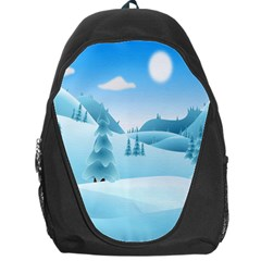 Landscape Winter Ice Cold Xmas Backpack Bag
