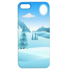 Landscape Winter Ice Cold Xmas Apple Iphone 5 Hardshell Case With Stand