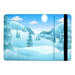 Landscape Winter Ice Cold Xmas Samsung Galaxy Tab Pro 10 1  Flip Case
