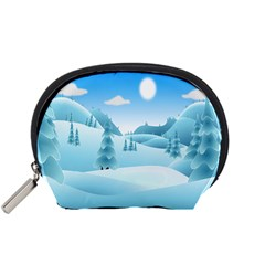 Landscape Winter Ice Cold Xmas Accessory Pouches (small)