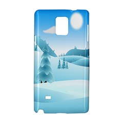 Landscape Winter Ice Cold Xmas Samsung Galaxy Note 4 Hardshell Case