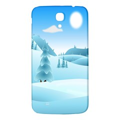 Landscape Winter Ice Cold Xmas Samsung Galaxy Mega I9200 Hardshell Back Case