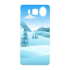 Landscape Winter Ice Cold Xmas Samsung Galaxy Alpha Hardshell Back Case