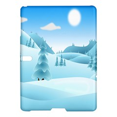 Landscape Winter Ice Cold Xmas Samsung Galaxy Tab S (10 5 ) Hardshell Case