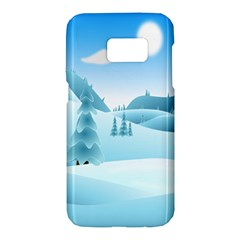 Landscape Winter Ice Cold Xmas Samsung Galaxy S7 Hardshell Case  by Nexatart