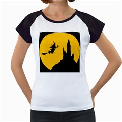 Castle Cat Evil Female Fictional Women s Cap Sleeve T