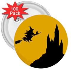 Castle Cat Evil Female Fictional 3  Buttons (100 Pack)