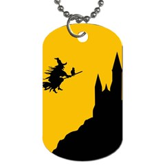 Castle Cat Evil Female Fictional Dog Tag (two Sides) by Nexatart