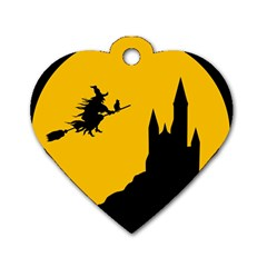 Castle Cat Evil Female Fictional Dog Tag Heart (one Side)