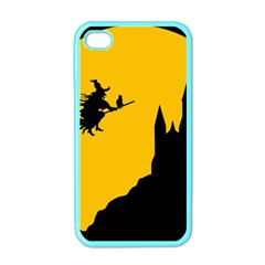 Castle Cat Evil Female Fictional Apple Iphone 4 Case (color)