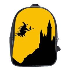 Castle Cat Evil Female Fictional School Bag (xl)