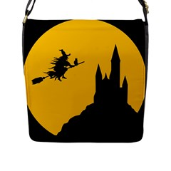 Castle Cat Evil Female Fictional Flap Messenger Bag (l)