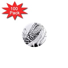 Animal Bird Forest Nature Owl 1  Mini Magnets (100 Pack)