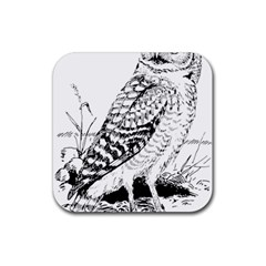 Animal Bird Forest Nature Owl Rubber Coaster (square)