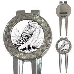 Animal Bird Forest Nature Owl 3 In 1 Golf Divots