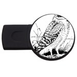 Animal Bird Forest Nature Owl USB Flash Drive Round (2 GB) Front