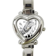 Animal Bird Forest Nature Owl Heart Italian Charm Watch