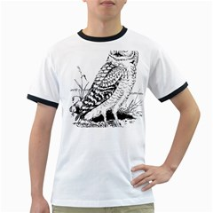 Animal Bird Forest Nature Owl Ringer T Shirts