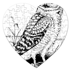 Animal Bird Forest Nature Owl Jigsaw Puzzle (heart)