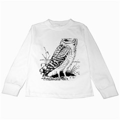 Animal Bird Forest Nature Owl Kids Long Sleeve T Shirts