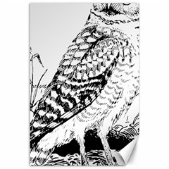 Animal Bird Forest Nature Owl Canvas 24  X 36
