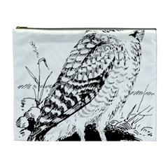 Animal Bird Forest Nature Owl Cosmetic Bag (xl)