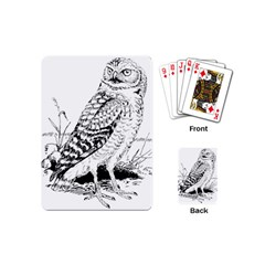 Animal Bird Forest Nature Owl Playing Cards (mini)