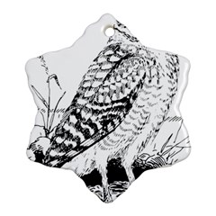 Animal Bird Forest Nature Owl Snowflake Ornament (two Sides)