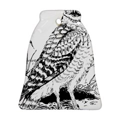 Animal Bird Forest Nature Owl Bell Ornament (two Sides)