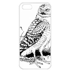 Animal Bird Forest Nature Owl Apple Iphone 5 Seamless Case (white)