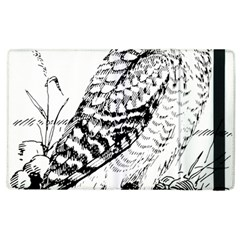 Animal Bird Forest Nature Owl Apple Ipad 3/4 Flip Case