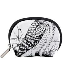 Animal Bird Forest Nature Owl Accessory Pouches (small)