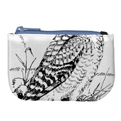 Animal Bird Forest Nature Owl Large Coin Purse