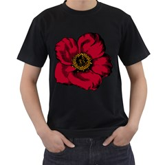 Floral Flower Petal Plant Men s T Shirt (black) (two Sided)