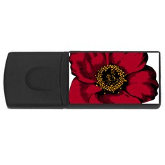 Floral Flower Petal Plant Rectangular Usb Flash Drive