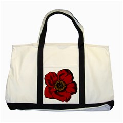 Floral Flower Petal Plant Two Tone Tote Bag