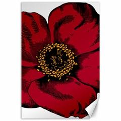 Floral Flower Petal Plant Canvas 24  X 36
