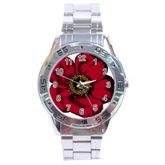 Floral Flower Petal Plant Stainless Steel Analogue Watch