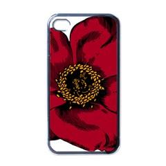 Floral Flower Petal Plant Apple Iphone 4 Case (black)