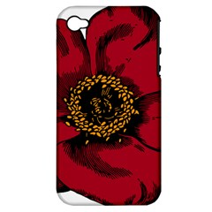 Floral Flower Petal Plant Apple Iphone 4/4s Hardshell Case (pc+silicone)